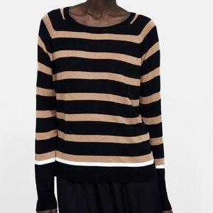 Zara stripped sweater size XL